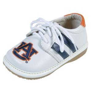 Squeak Me Shoes Boys Collegiate Toddler Shoe Size 3 - Auburn