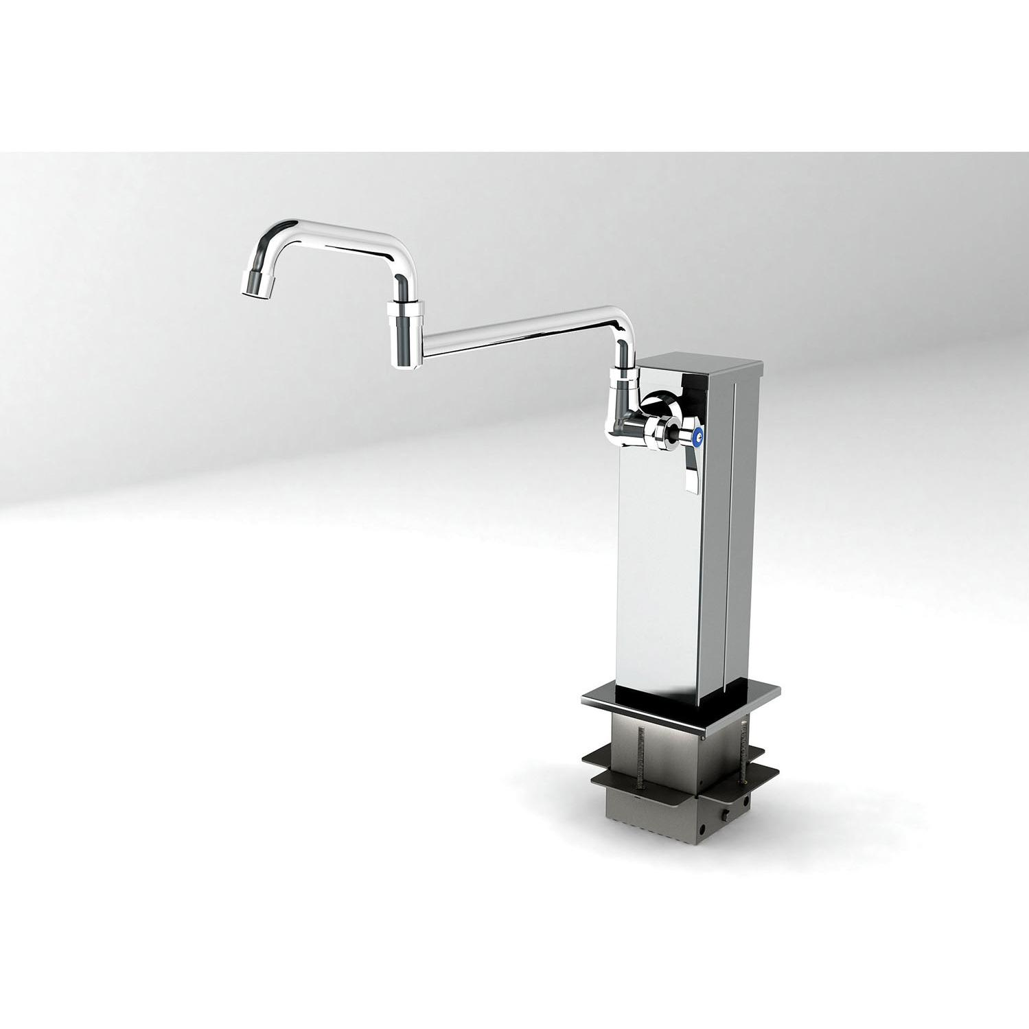 Alfresco Adjustable Outdoor Rated Pot Filler Tower With Cold Water Faucet - AXEVP-T10
