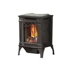 Picture of Napoleon GDS20 Arlington Cast Iron Natural Gas Stove - Black