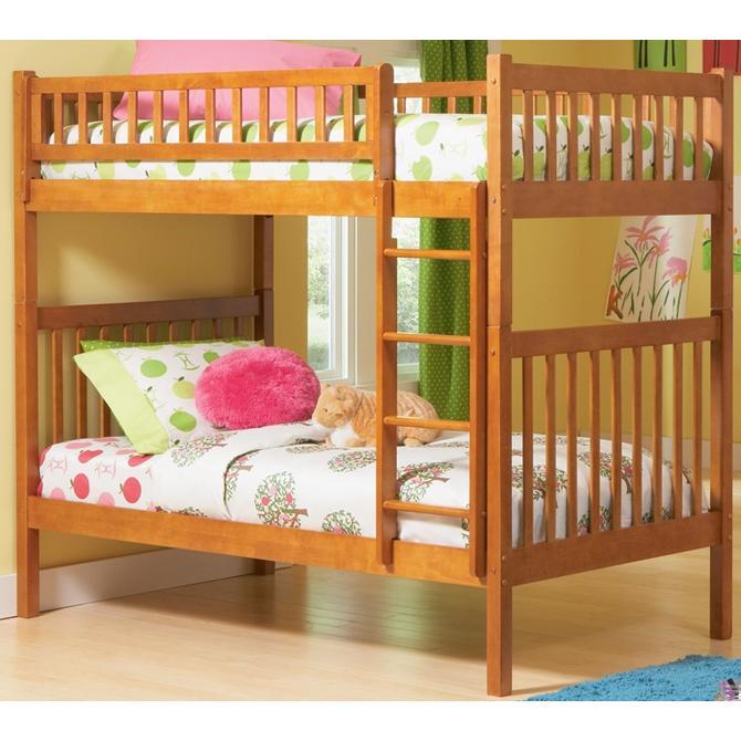 Atlantic Furniture 2000700 Arizona Twin / Twin Bunk Beds Caramel Latte