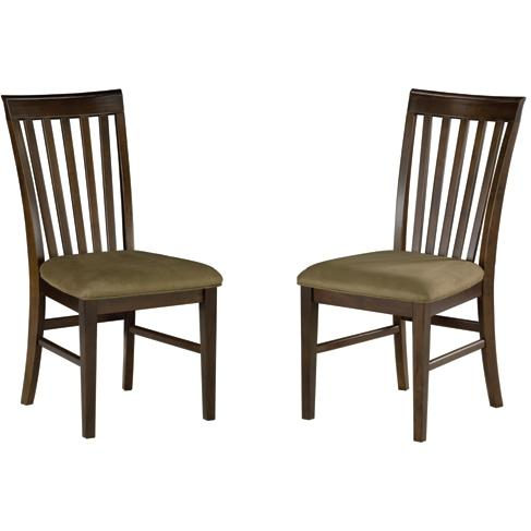 Atlantic Furniture 7001410 Mission Dining Chairs Antique Walnut W/ Cappuccino Cushion (Set Of 2 Chairs)