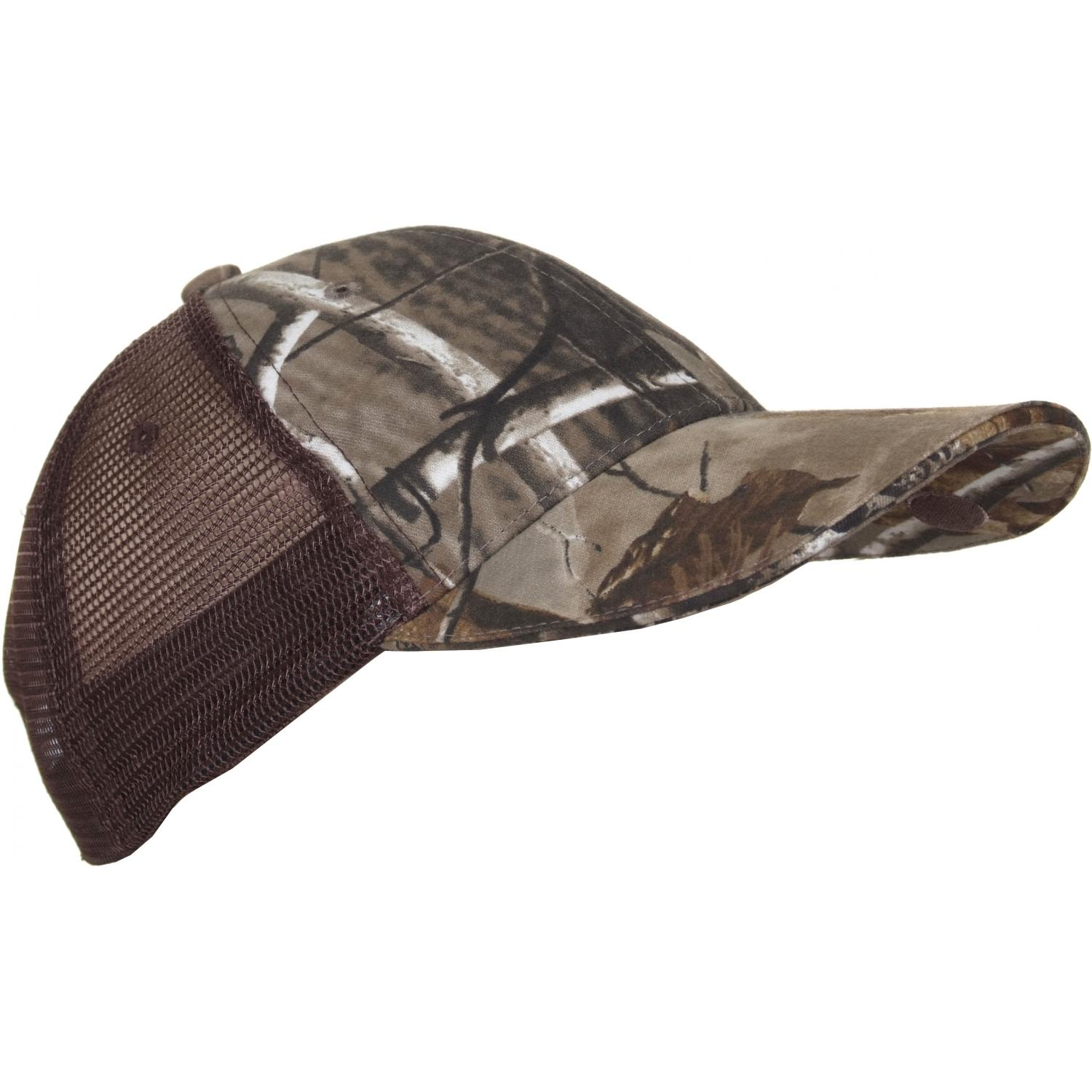 Panther Vision Lighted Mesh Back Structured Hat W/ 4 LED Lights - Real Tree AP Grey Camo