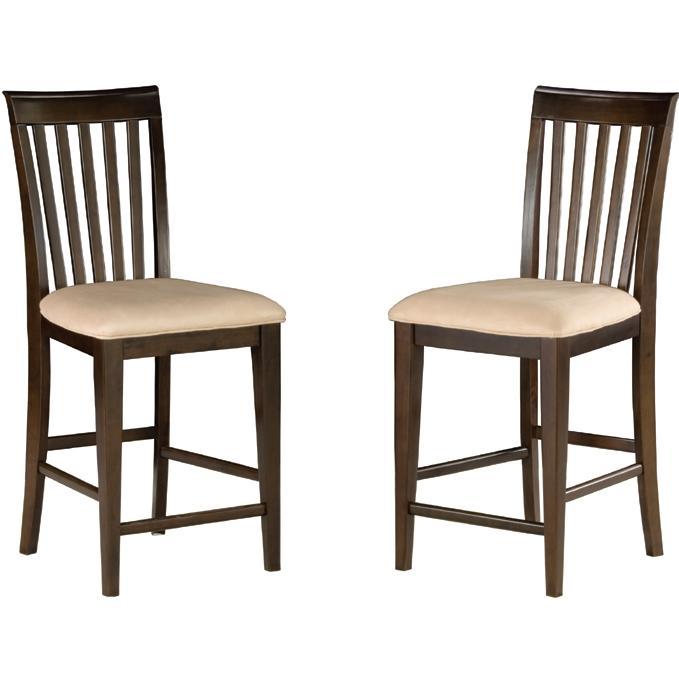 Atlantic Furniture 7002420 Mission Pub Chairs Antique Walnut W/ Oatmeal Cushion (Set Of 2 Chairs)