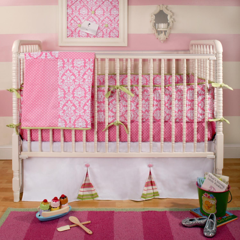 New Arrivals Crib Bumper - Pink Taffy