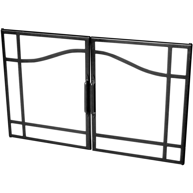 Picture of Dimplex 33-Inch Swing Glass Fireplace Doors - BFSDOOR33BLK
