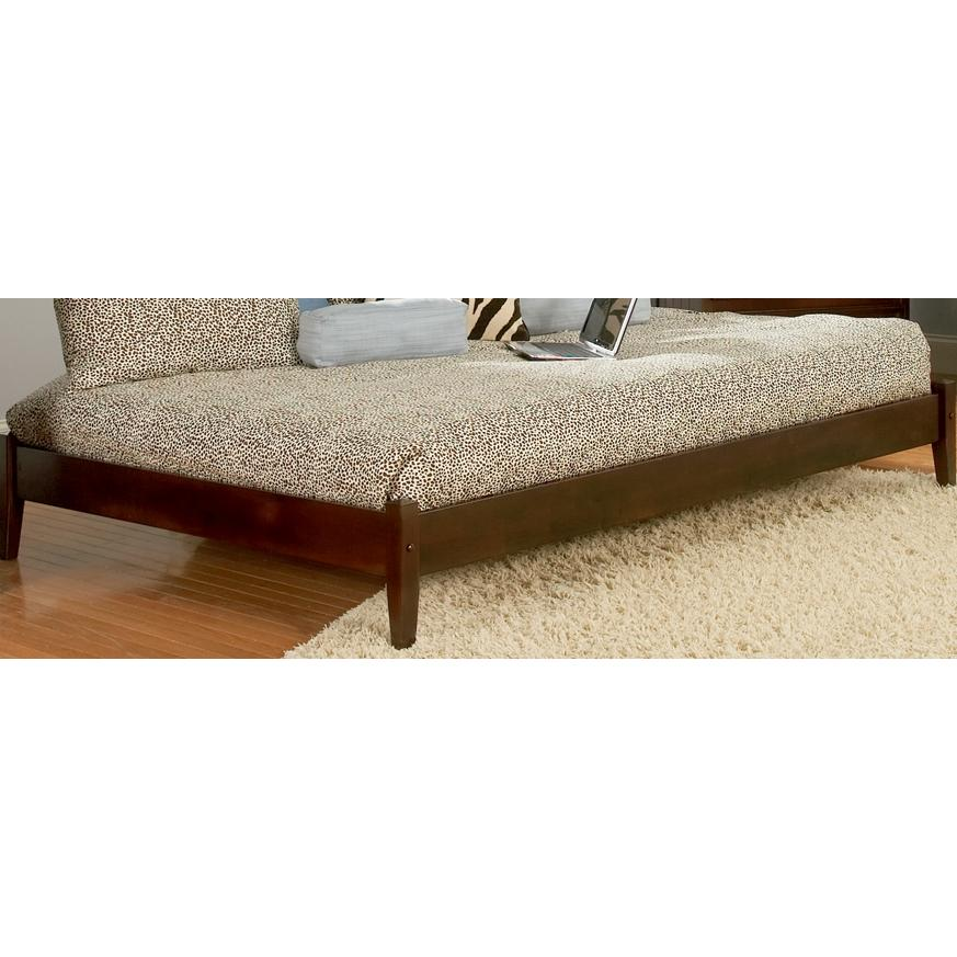 Atlantic Furniture 1002400 Concord Twin Bed Open Foot Rail - Antique Walnut