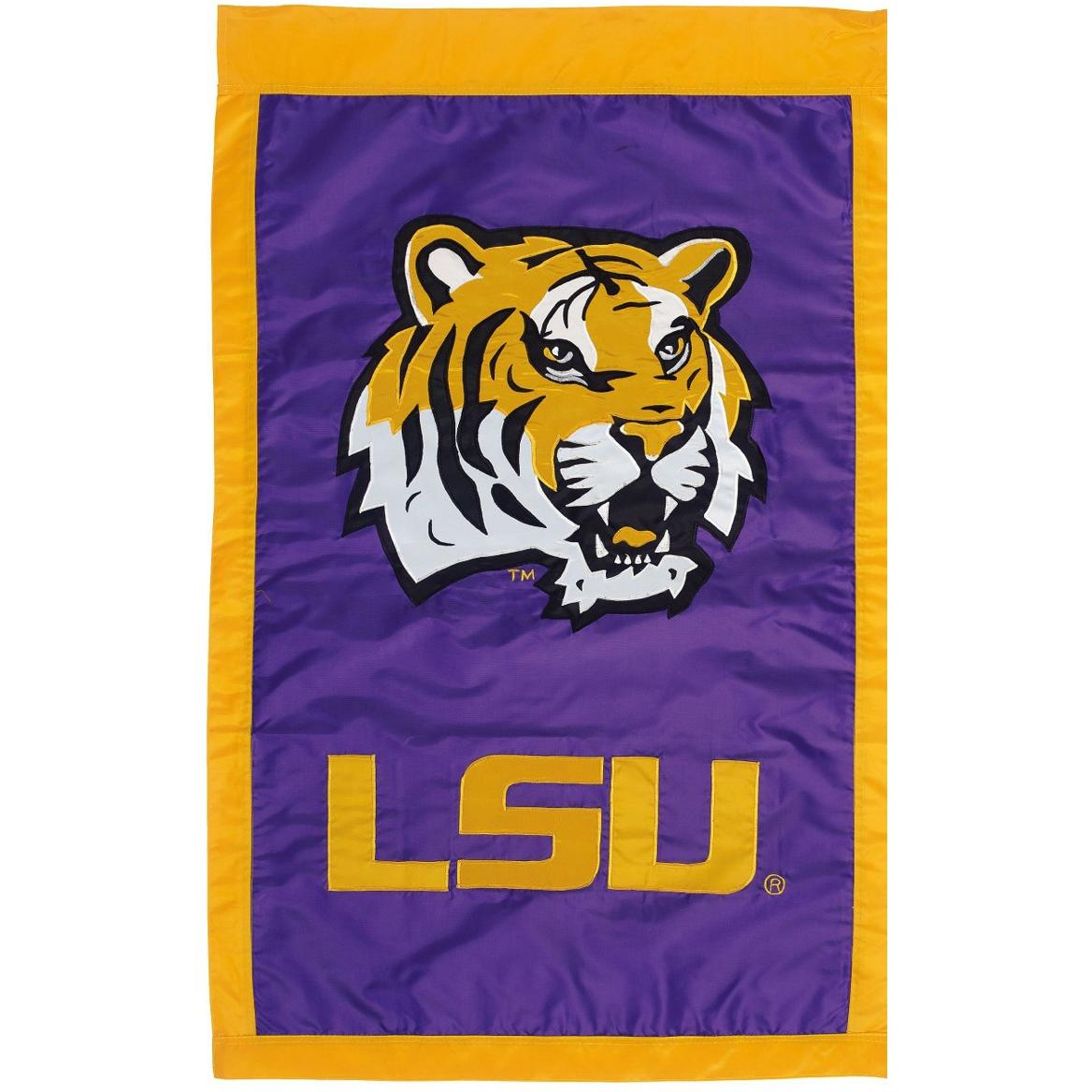 Evergreen LSU Double-Sided Flag