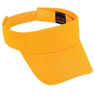 Otto Cap Comfy Cotton Jersey Knit Sun Visor - Gold