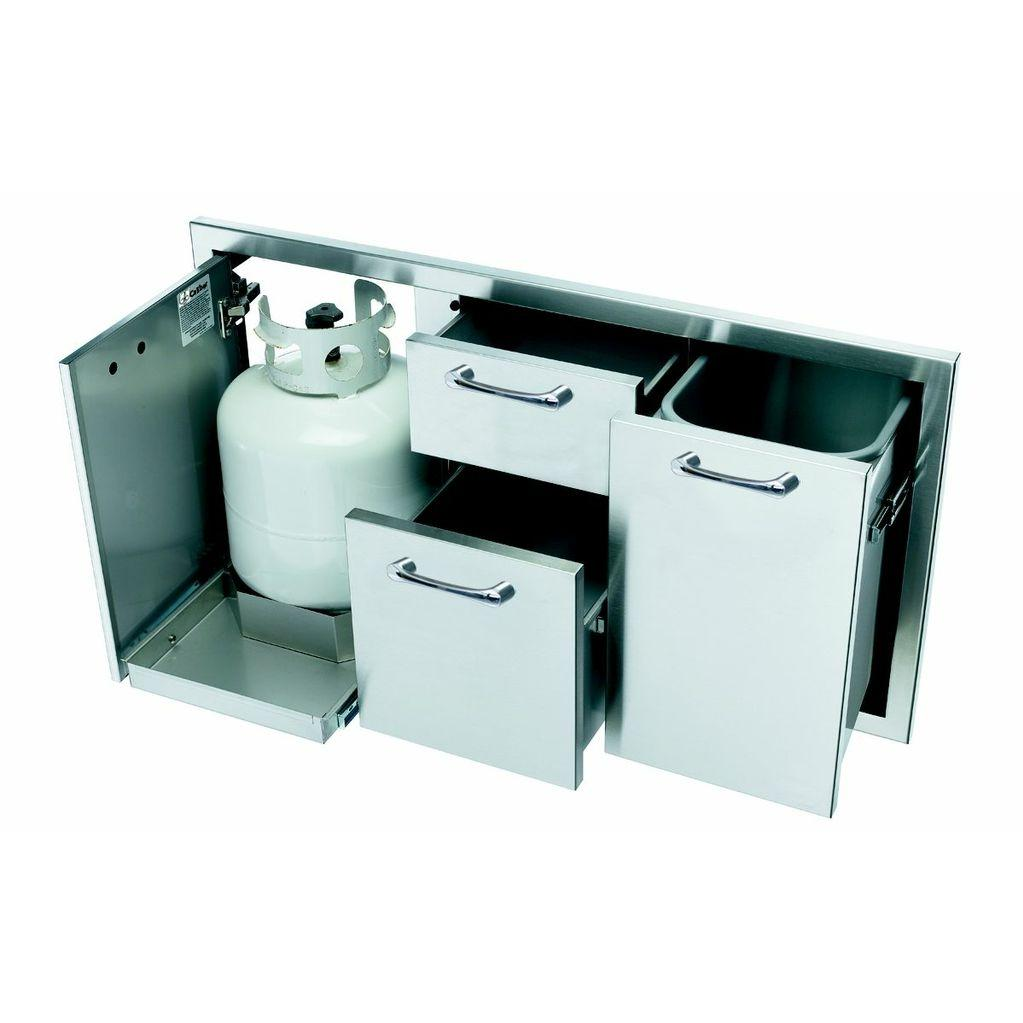 Picture of Caliber 41-Inch Double Access Drawer & Propane Tank Storage Combo
