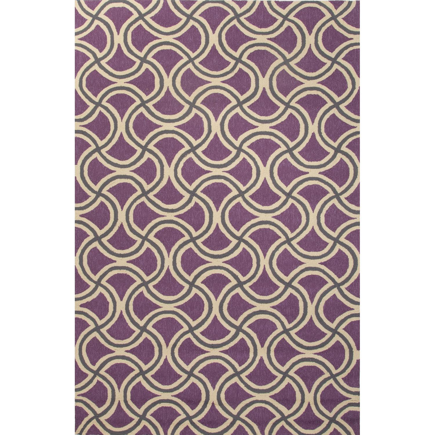 Picture of Jaipur Rugs Barcelona Barbells 2 X 3 Indoor/Outdoor Rug - Purple/Taupe