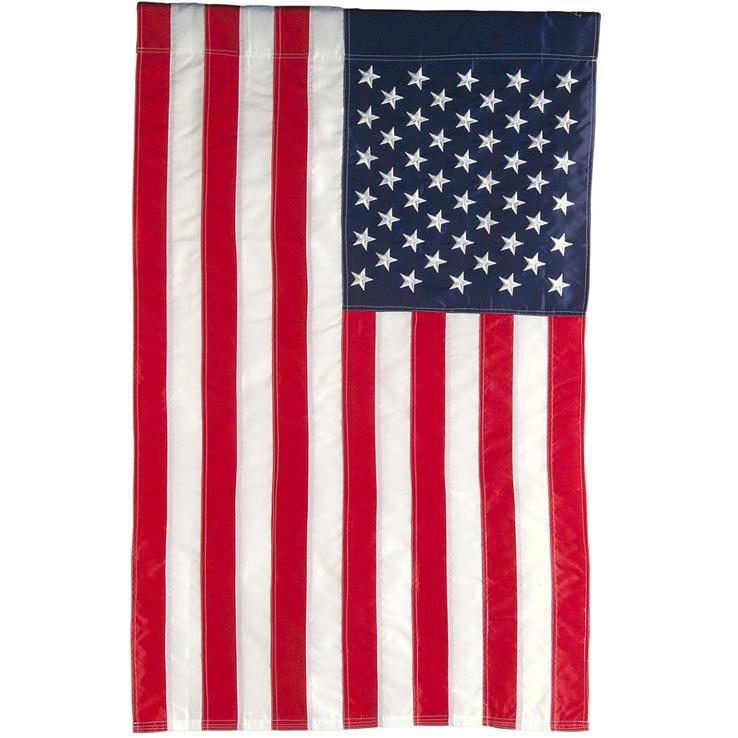 Evergreen Garden Display American Flag
