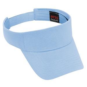 Otto Cap Comfy Cotton Jersey Knit Sun Visor - Light Blue
