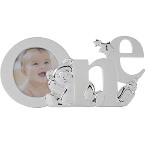Elegant Baby Silver-Plated Birthday Photo Frame - One