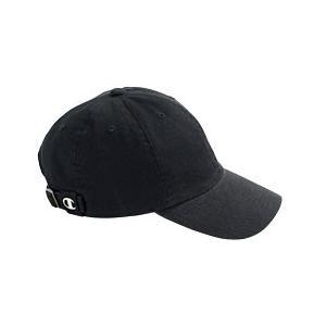 Champion Brushed Cotton 6-Panel Cap - Black