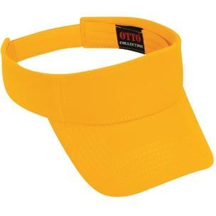 Otto Cap Comfy Cotton Pique Knit Sun Visor - Gold