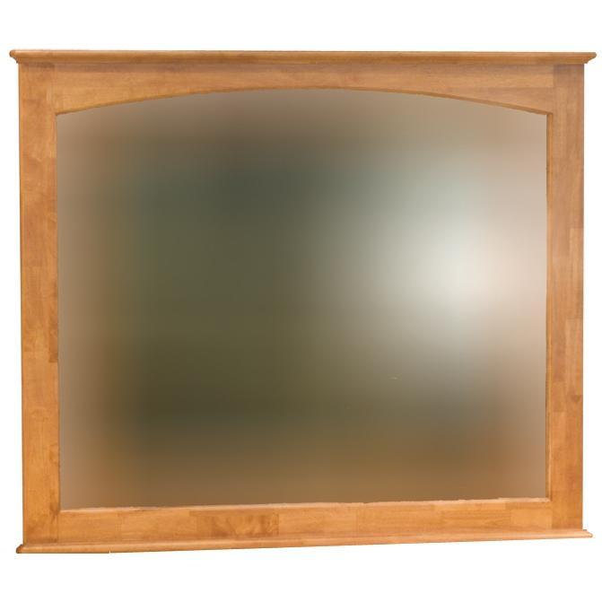 Atlantic Furniture 71006 Landscape Beveled Mirror Light Cherry