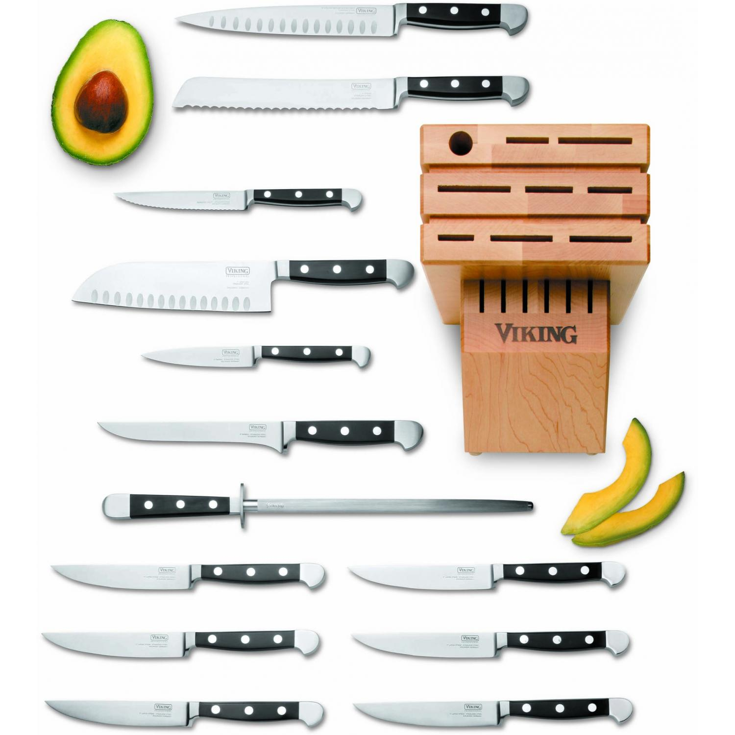 Viking VCSR0110 14-Piece Santoku Cutlery Set