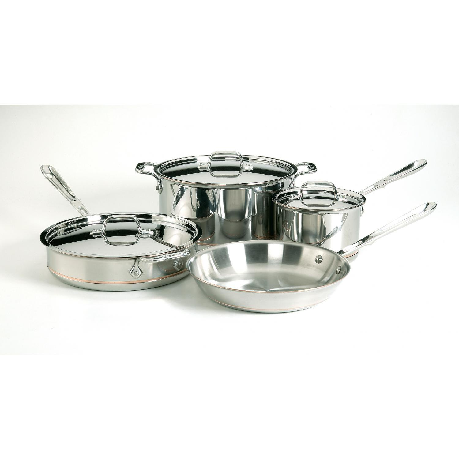 Picture of All-Clad Copper-Core Stainless Steel 7-Piece Cookware Set