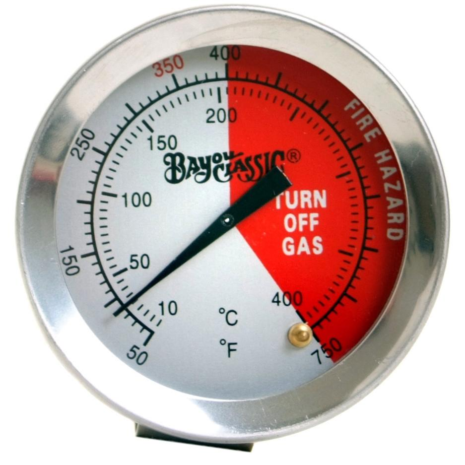 Bayou Classic Thermometers 12 Inch Stainless Steel Fry Thermometer