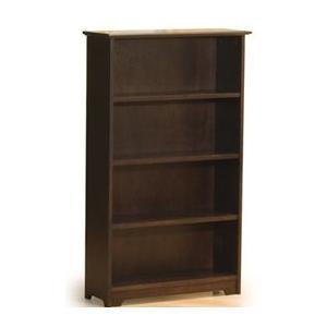 Atlantic Furniture 69304 Windsor Book Shelf 55 Inch Antique Walnut