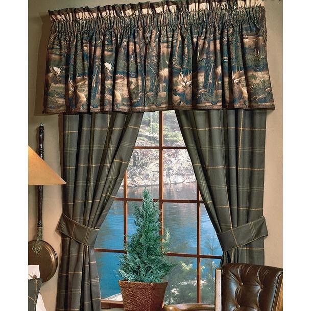 Blue Ridge Trading Window Curtain - Moose Mountain