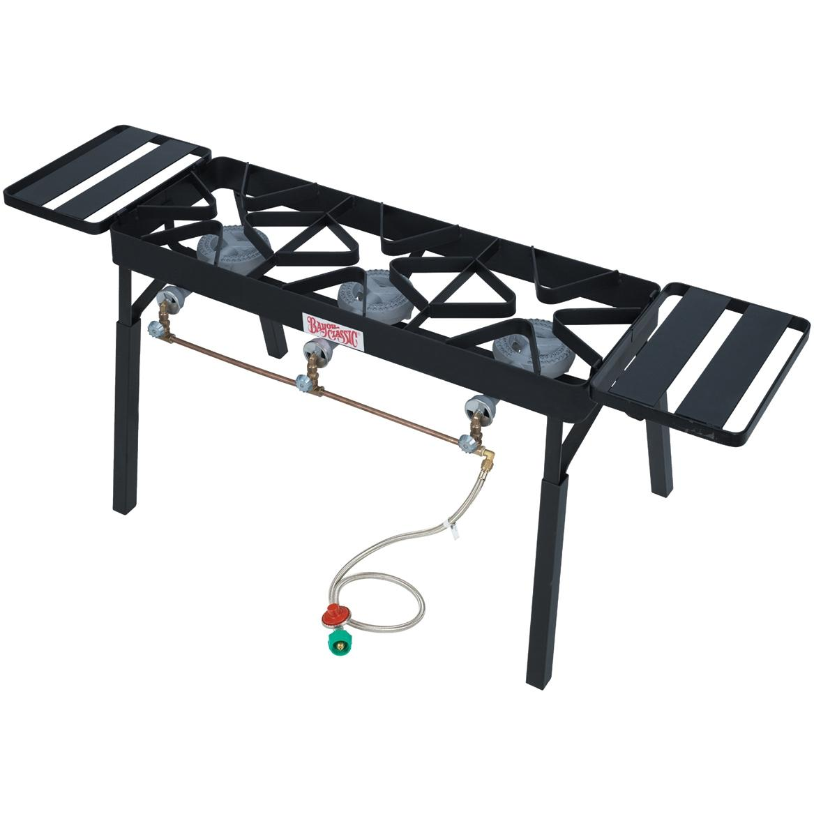 Bayou Classic Stoves With Low Pressure Gas Burners Black Triple Outdoor Stove