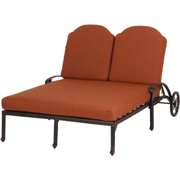 Caluco Florence Aluminum Double Chaise Lounge