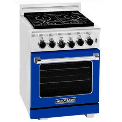 American Range ARR-244 24 Inch Natural Gas Range With 4 Burners - Sapphire Blue