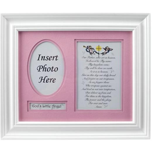 Elegant Baby Prayer Photo Frame - Girl