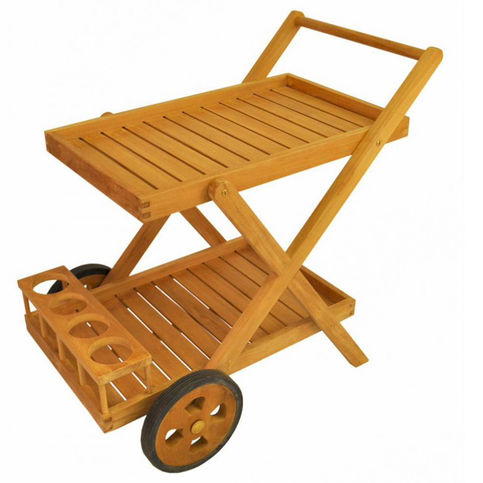 Picture of Anderson Teak Cobana Teak Patio Serving Cart