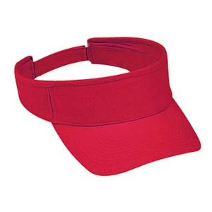 Otto Cap Brushed Bull Denim Sun Visor - Red