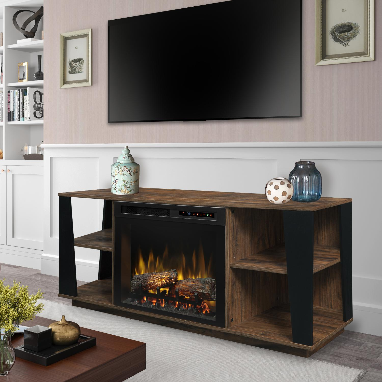 Dimplex Arlo 60 Inch Electric Fireplace Media Console Logs