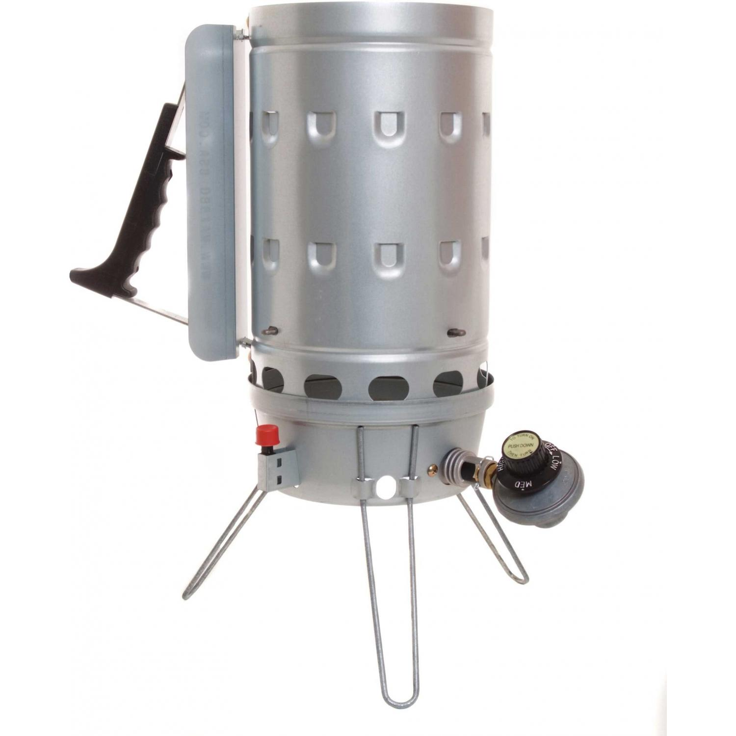 Max BBQ Eco Charcoal Chimney Starter With Gas Burner