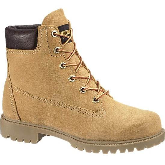 Wolverine Womens 6 Inch Waterproof Insulated Field Work Boots - Gold - Size 6 - Wide