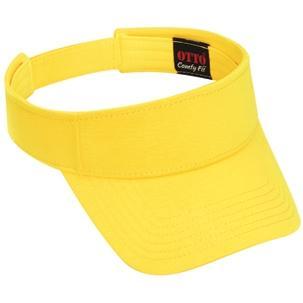 Otto Cap Comfy Cotton Jersey Knit Sun Visor - Maize