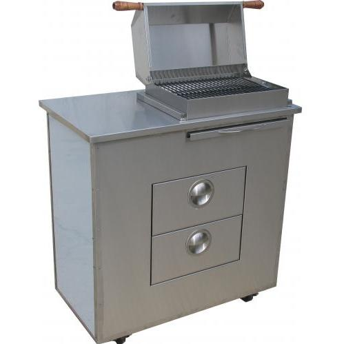 BBQ Guys Stainless Steel Electric Grill With Stainless Steel Island