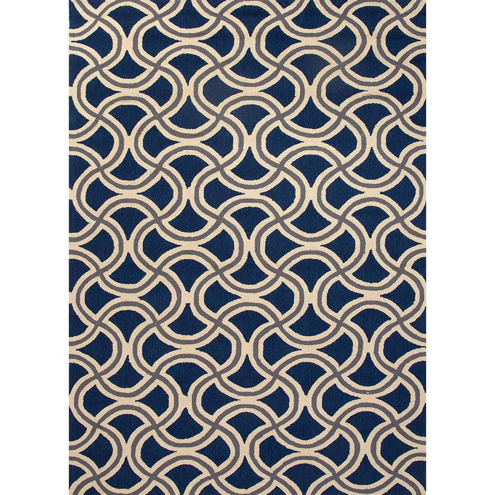Picture of Jaipur Rugs Barcelona Barbells 2 X 3 Indoor/Outdoor Rug - Blue/Taupe