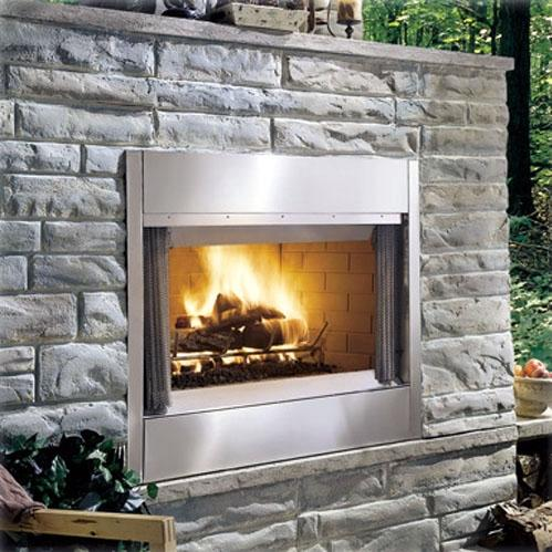 Monessen ODSR42A Al Fresco Series 42-Inch Outdoor Wood Burning Fireplace - Stainless Steel