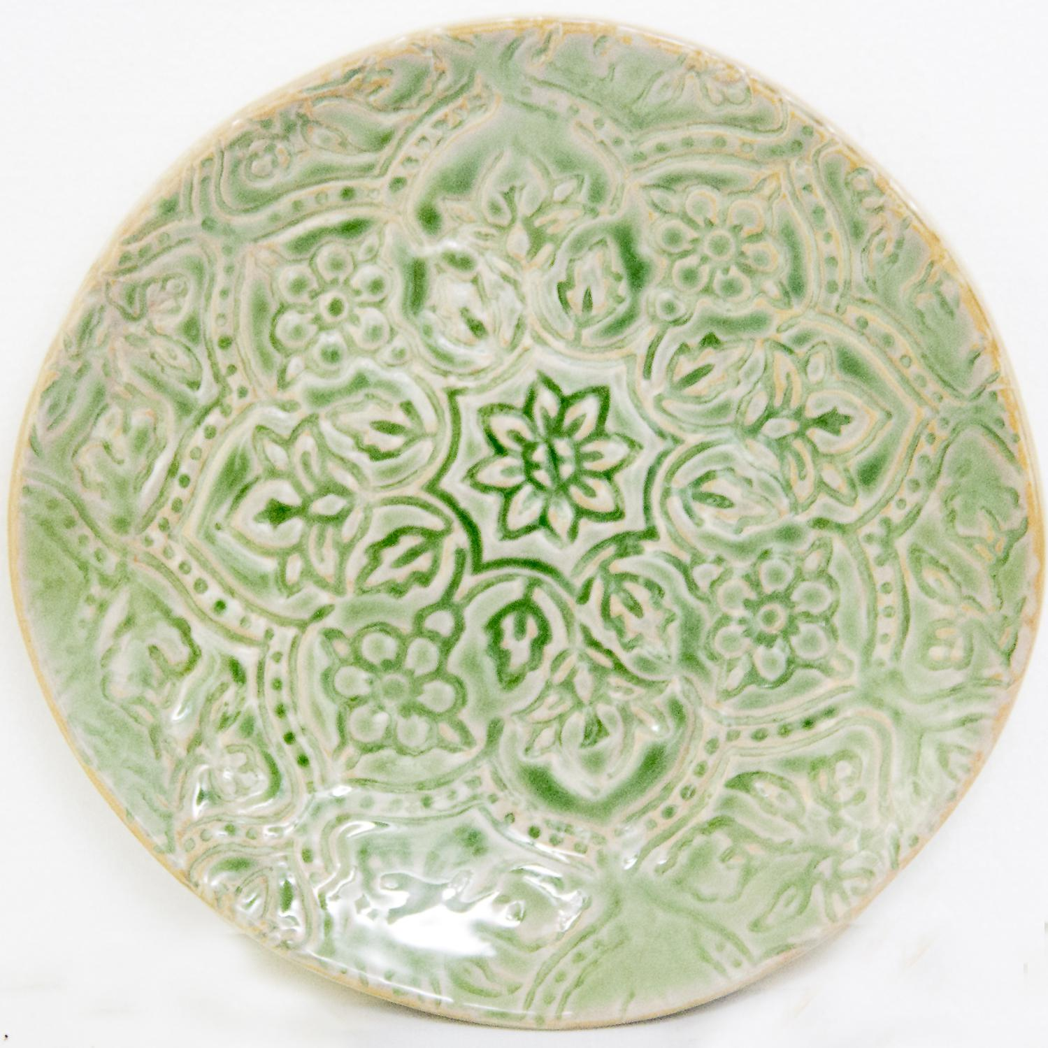 Picture of Artisan Tile - Moss 9.5 In Salad Plate