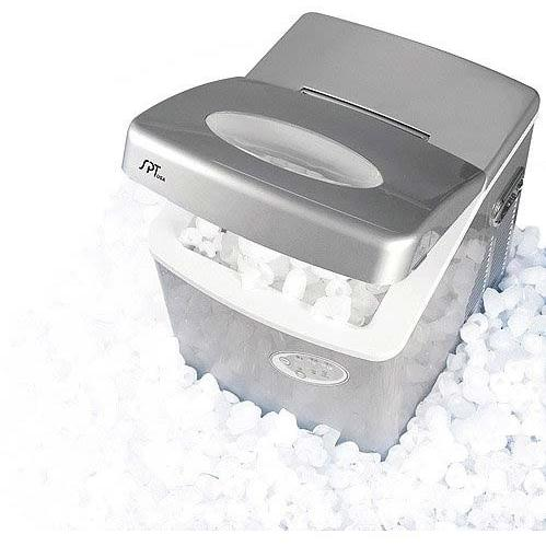Sunpentown IM-100 2.5 lb. Capacity Portable Compact Ice Maker - Silver