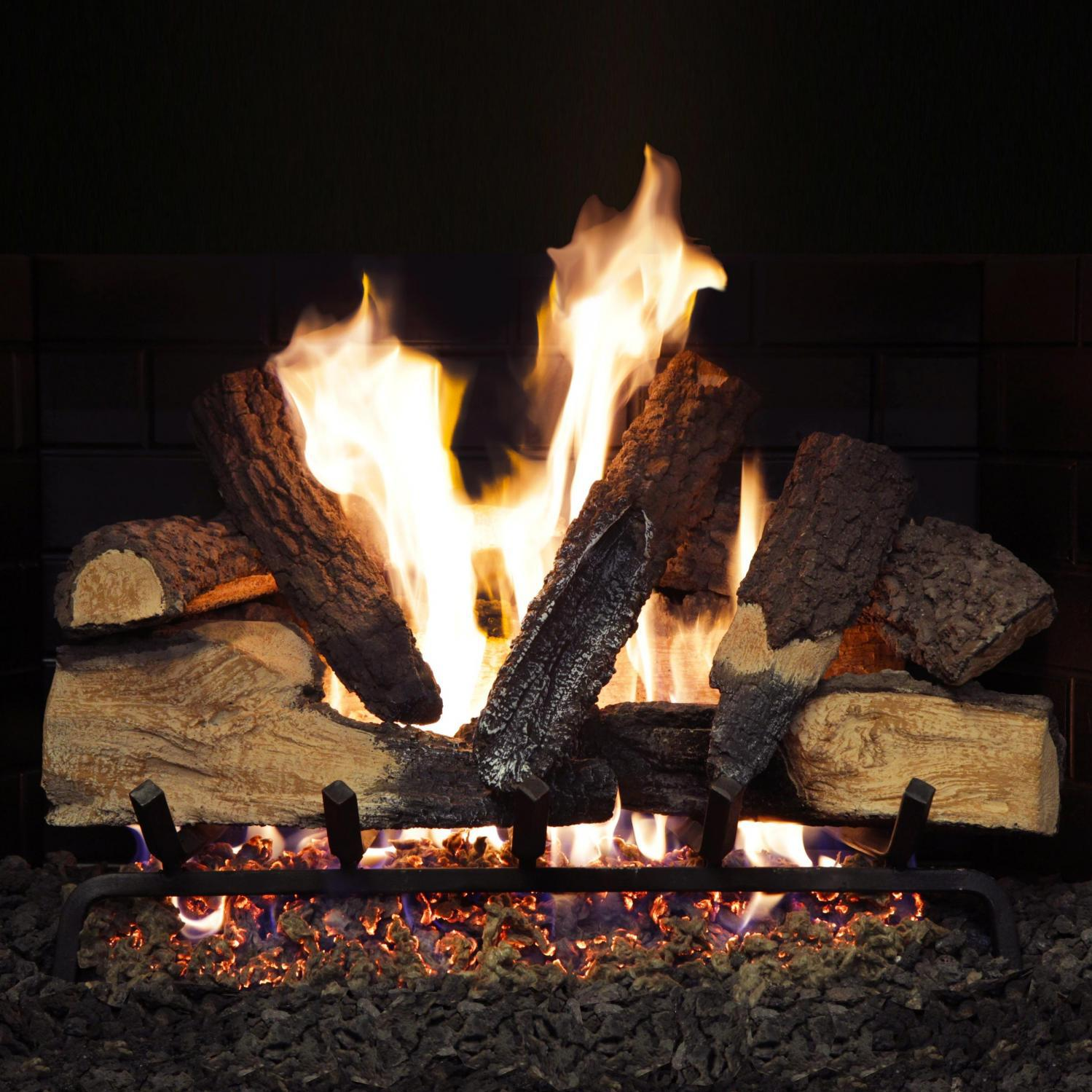 Picture of Alpine Flame 18-Inch Rustic Canyon Vented Natural Gas Log Set