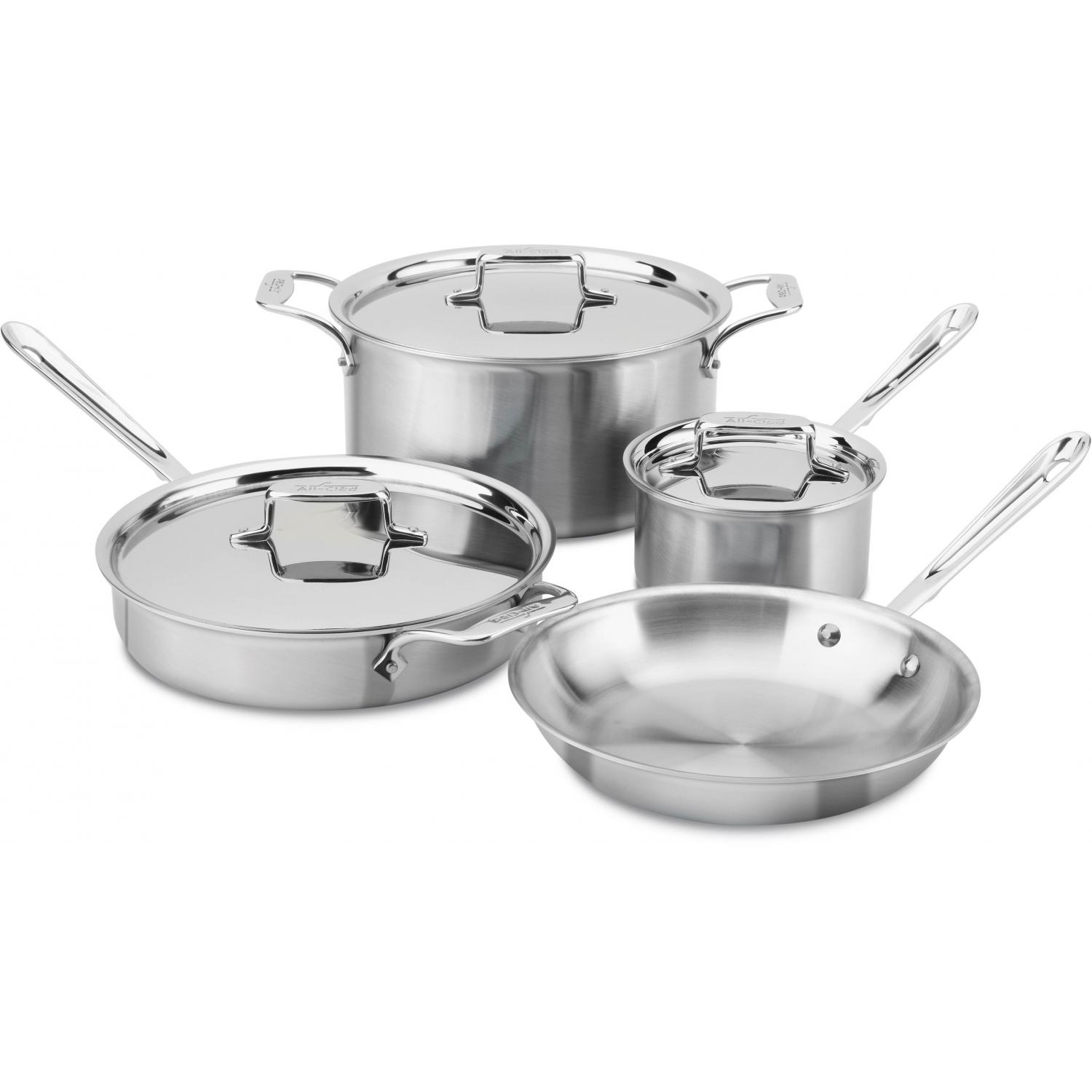 Picture of All-Clad D5 Stainless 7-Piece Cookware Set