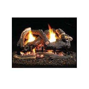 Firegear 26-Inch CD Vent Free Natural Gas Log Set With ANSI Certified Revolution Burner - On / Off Remote