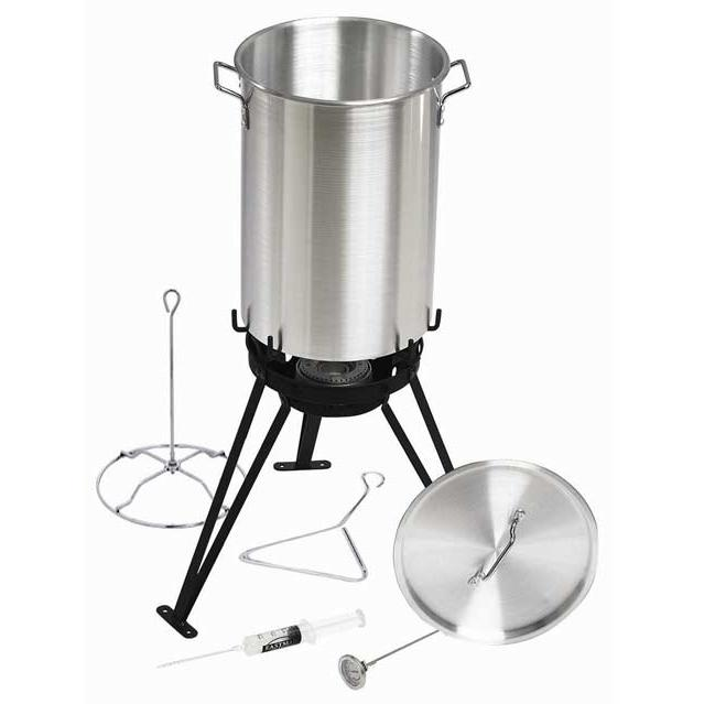 Eastman Outdoors 30 Qt Aluminum Cooking Set With CSA Shut Off