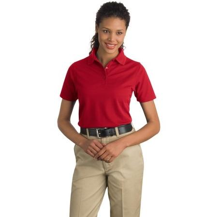 CornerStone Ladies Industrial Pocketless Pique Polo XL - Red