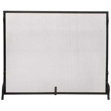 UniFlame 41 Inch Black Wrought Iron Single Panel Fireplace Screen