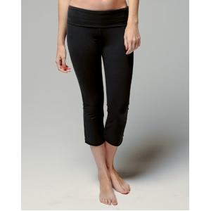 Bella Ladies Cotton/Spandex Capri Pant Medium - Black
