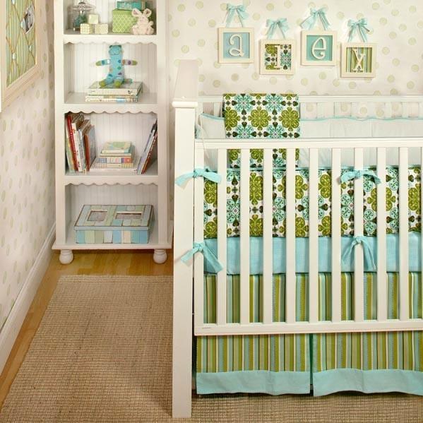 New Arrivals Crib Bumper - Blue Haven