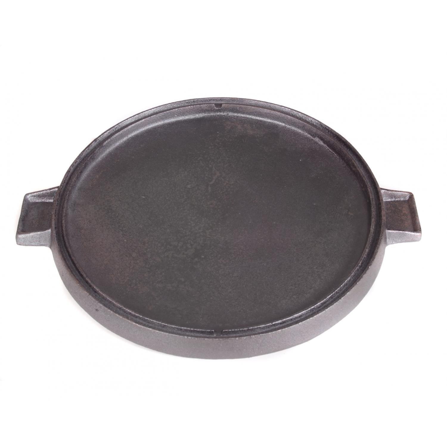 Cajun Cookware Griddles 14 Inch Round Reversible Seasoned Cast Iron Griddle