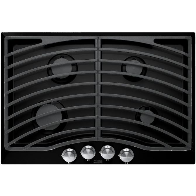 Viking DGSU101-4BLP 30-Inch Designer Series Propane Gas Cooktop With 4 Burners - Black